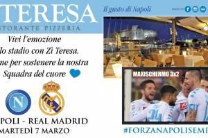 Napoli – Real Madrid al Ristorante Zi Teresa