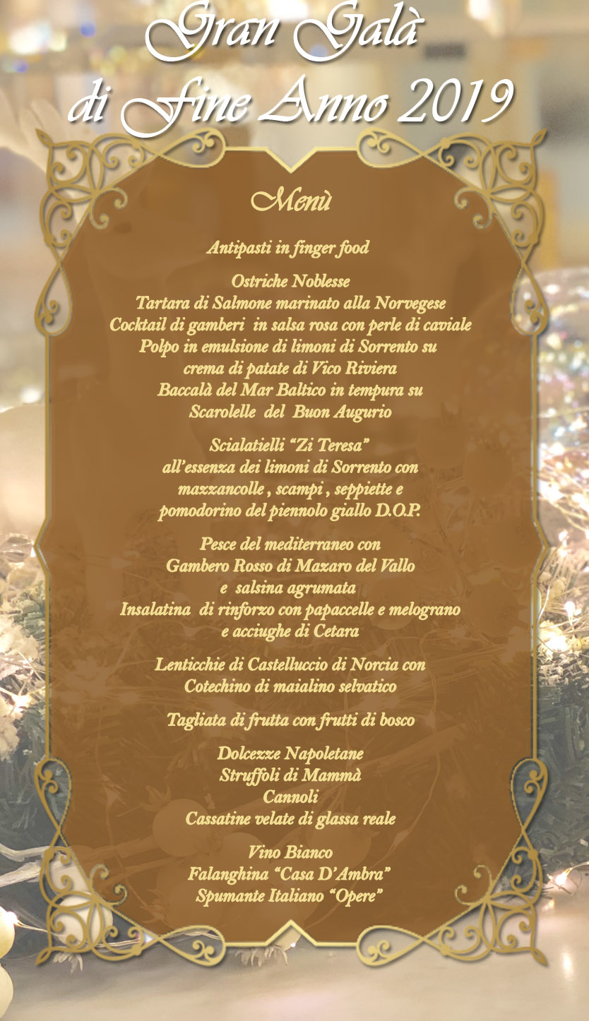 Cenone Di Capodanno 2019 Napoli Ristorante Zi Teresa